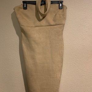 Fashion Nova Suede Turtleneck Dress